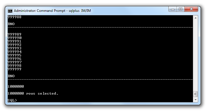 Windows command window output