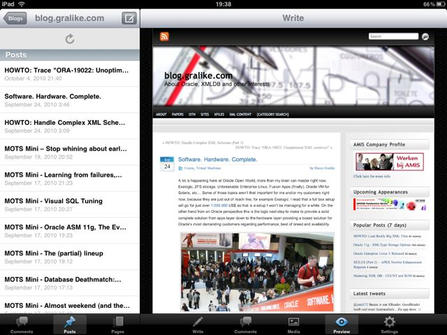 iPad WordPress App