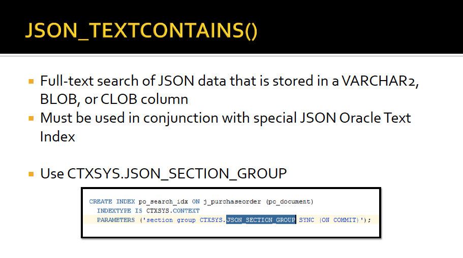 CTXSYS.JSON_SECTION_GROUP