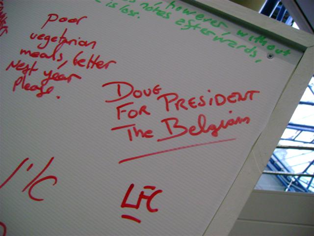 Picture taken of the white board during UKOUG 2007