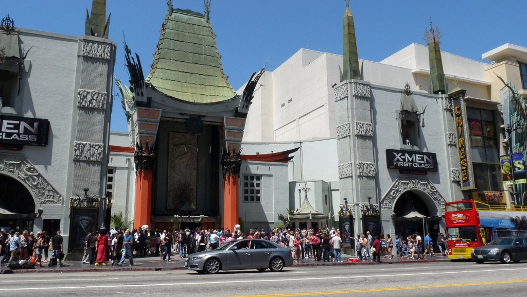 One of the old movie theaters in LA, USA