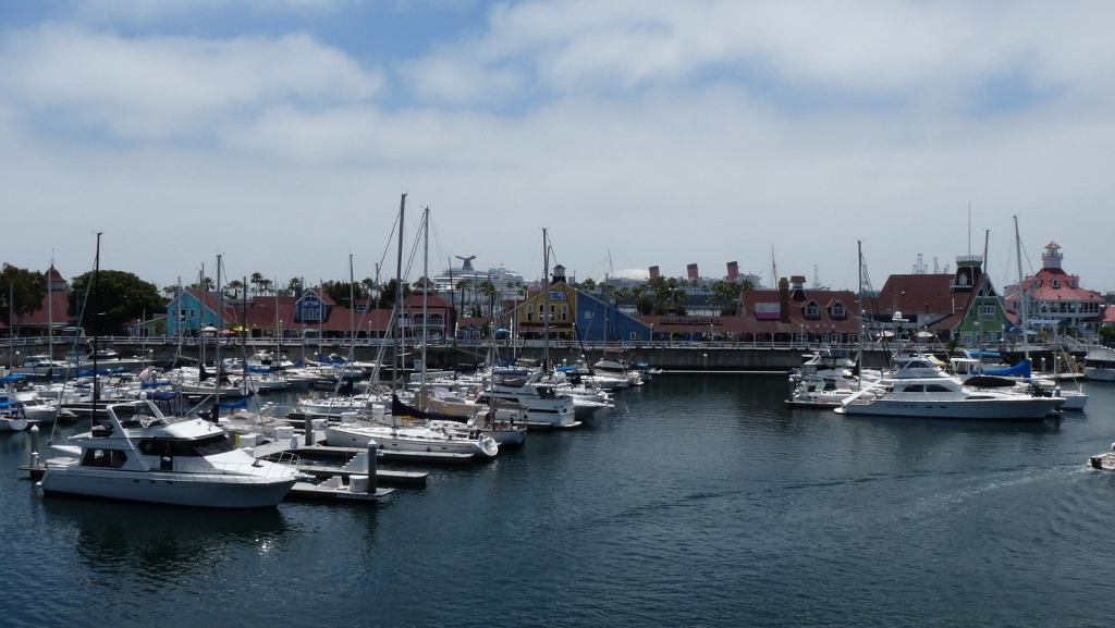 View on the harbor, Long Beach, CA, USA
