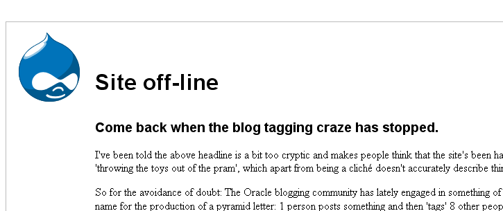 Reponses to Blog tagging