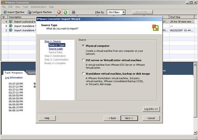 Convert Options Screen